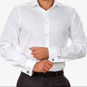Merona Men's French Cuff White Dress Shirt - Sz M